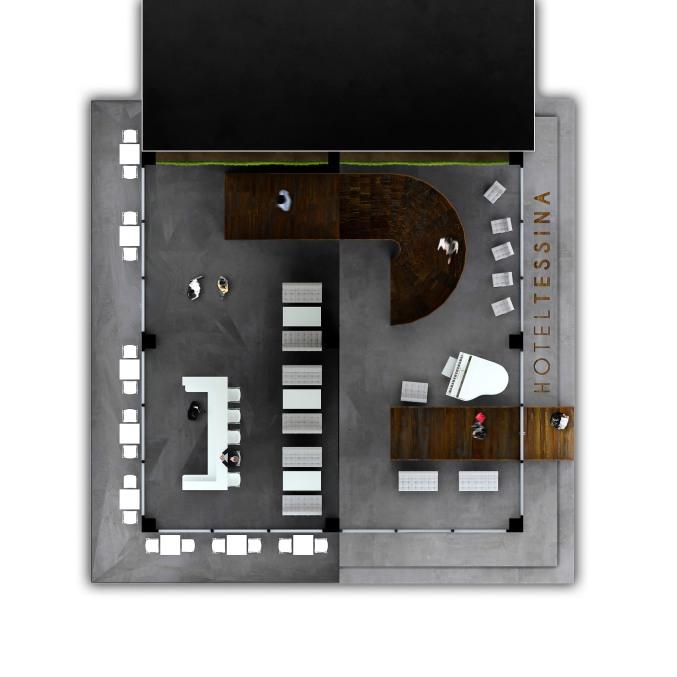 Interni per l abitare temporaneo for Planimetria 3d